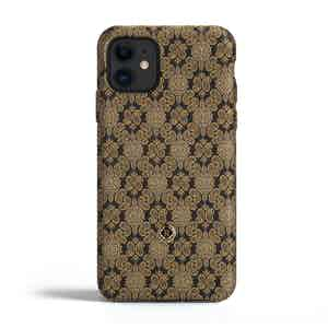 Black and Venetian Gold Silk iPhone 11