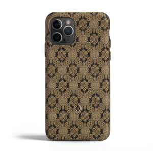 Black and Venetian Gold Silk iPhone 11 Pro Max Case
