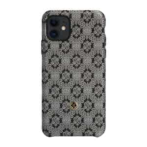 Black and Venetian White Silk iPhone 11 Case