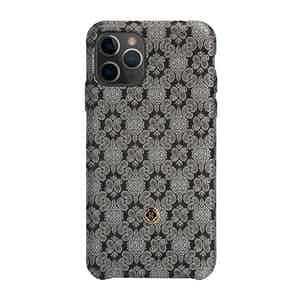 Black and Venetian White Silk iPhone 11 Pro Max Case