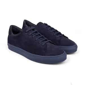 Deep Blue Suede Low-Top Sneakers Alfredo