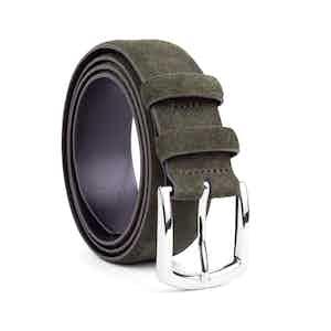 Khaki Classic Leather Belt Giuseppe