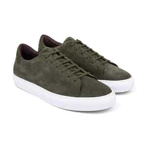 Khaki Suede Low-Top Sneakers Giuseppe
