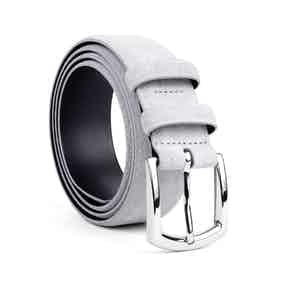 Cloud Grey Classic Leather Belt Norberto