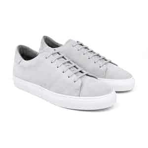 Cloud Grey Suede Low-Top Sneakers Norberto