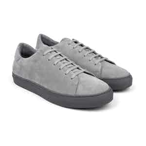 Grey Suede Low-Top Sneakers Umberto