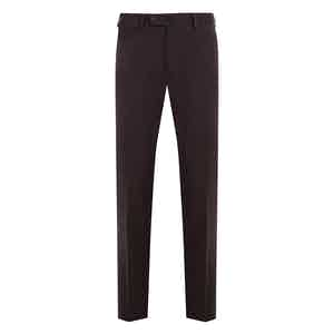 Dark Brown Casual Fustian Cotton Trousers