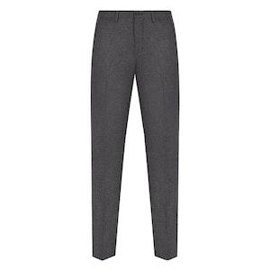 Dark Grey Flannel Wool Trousers