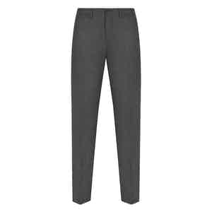 Dark Grey Flannel Wool Trousers