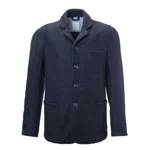 Dark Blue Adam Boiled Wool Worker Jacket