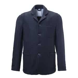 Dark Blue Adam Boiled Wool Worker Jacket