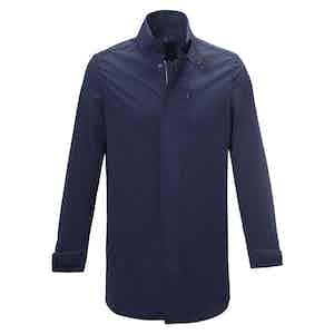 Dark Blue Albert Single-Breasted Raincoat