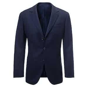 Dark Blue Performance Virgin Wool Blazer