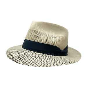 Dean Martin Cream Toquilla Palm Straw Hat