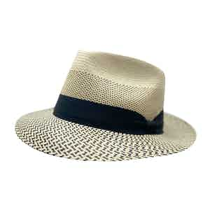 Dean Martin Cream Toquilla Palm Straw Hat