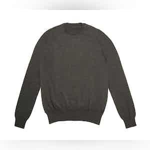 Charcoal Crew Neck Extra Fine Merino Sweater