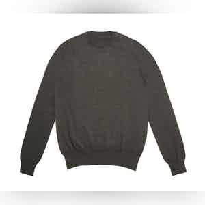 Charcoal Crew Neck Extra Fine Merino Sweater