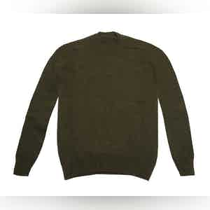 Olive Shetland Wool Sweater