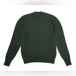 Dark Green Shetland Wool Sweater