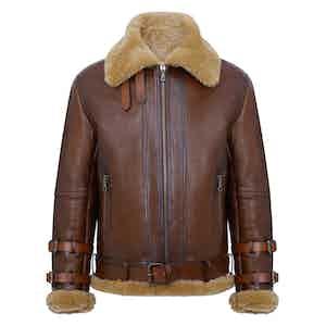 Brown Douglas Shearling Flight Jacket