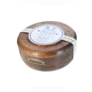 Windsor Traditional Shaving Soap with a Mahogany Bowl