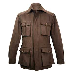 Chocolate Heavy Drill Cotton Travel Jacket