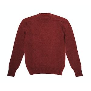 Wine Shetland Wool Sweater