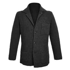 Charcoal Single-Breasted Merino and Cashmere Jacket