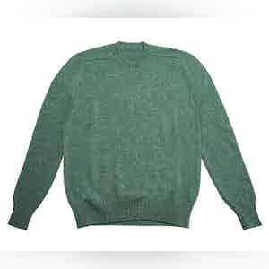 Teal Shetland Wool Sweater