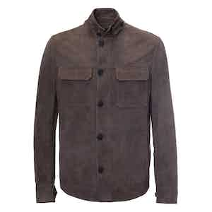 Earth Brown Suede Jacket