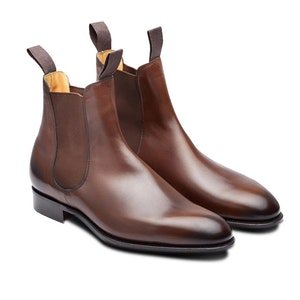 Dark Oak Newmarket Leather Chelsea Boots