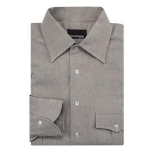 Beige Linen Safari Shirt
