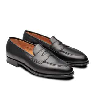Black Piccadilly Leather Penny Loafers
