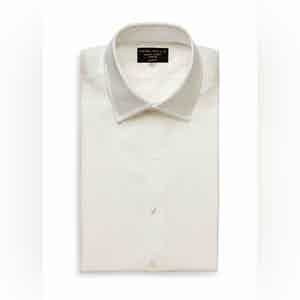 Ivory Pique Bib Evening Cotton Shirt