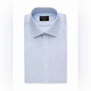 Sky Bengal Stripe Cotton Shirt