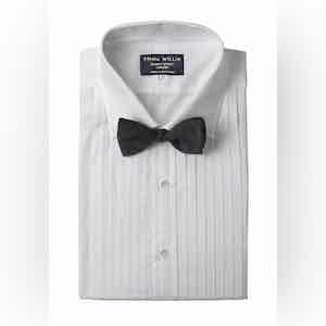 White Cotton Pleated Shirt