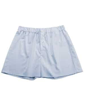Sky Blue Genio Cotton Boxer Shorts