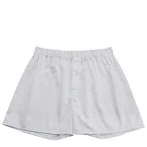 White Genio Cotton Boxer Shorts