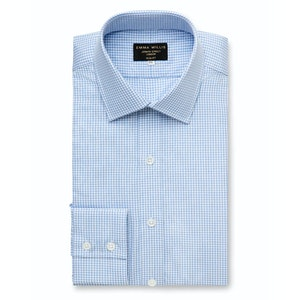 Sky Oxford Check Cotton Shirt