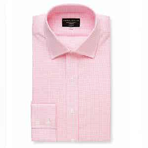 Pink Oxford Check Cotton Shirt