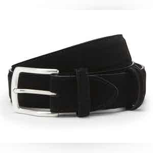 Black Suede with Silver Buckle Belt