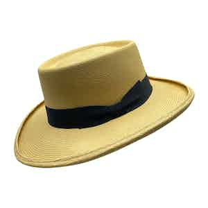 Escobar Neutral Toquilla Palm Straw Hat