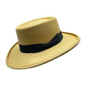 Escobar Neutral Toquilla Palm Straw Hat