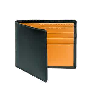 Dark Green and London Tan Billfold Wallet