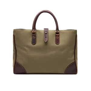Olive Green Canvas Pursuits Piccadilly Tote Bag