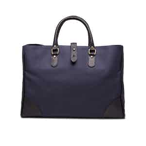 Navy Canvas Pursuits Piccadilly Tote Bag