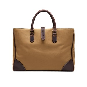 Sand Brown Canvas Pursuits Piccadilly Tote Bag