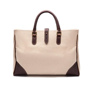 Ivory Canvas Pursuits Piccadilly Tote Bag