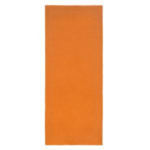 Orange Wool and Silk Scarf