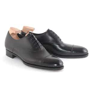 Black Classic Leather Oxford Shoes